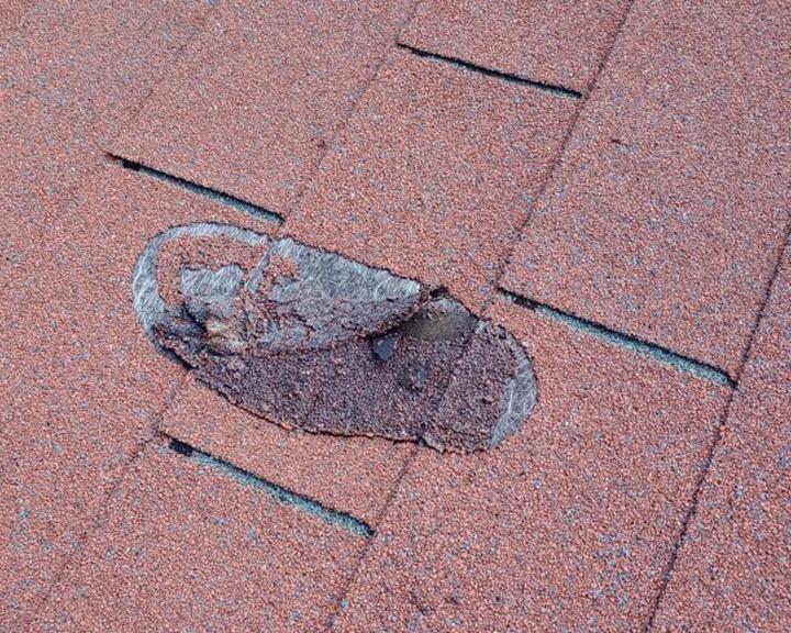 Damage Asphalt shingles